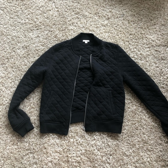GAP Jackets & Blazers - Gap black quilted bomber jacket size medium